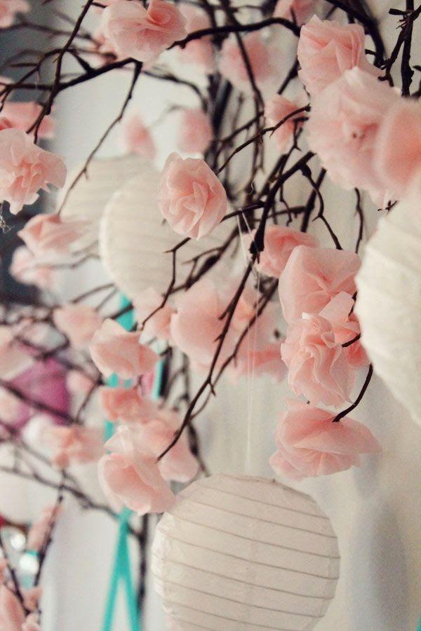 The Beauty of a Cherry Blossom Wedding Theme.   Read more: http://simpleweddingstuff.blogspot.com/2015/03/the-beauty-of-cherry-blossom-wedding.html