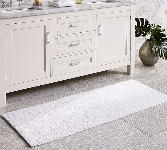 """This would make a great bath rug for your bathroom. I love the length. $49.50 24"""" x 64"""" PB Classic Bath Rug - Double Wide   Pottery Barn"""