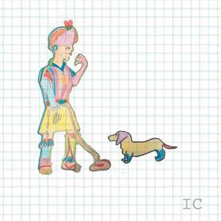 Ilustración arte persona perro