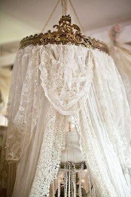 Shabby Lace Canopy !