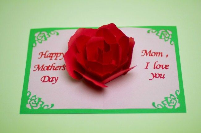 Happy Mother S Day Sms Images 2018 Free Download For Smartphone Mothersday2018 Mothersday Mother Moth Pop Up Card Templates Pop Up Cards Paper Rose Template