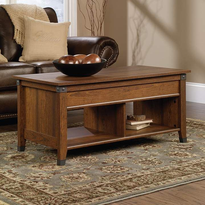 Sauder Carson Forge Collection Storage Coffee Table Cool Coffee