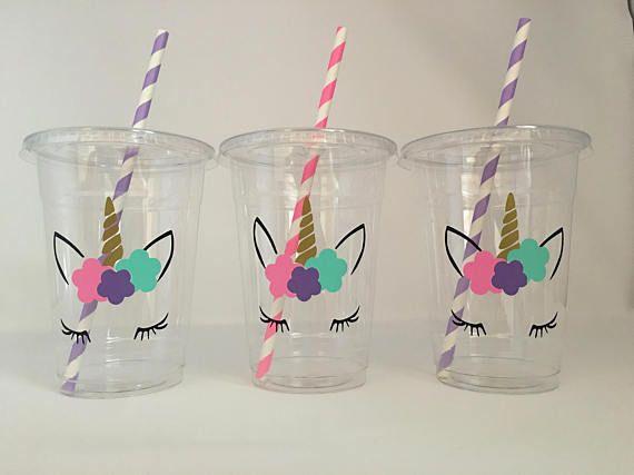 Tazas de partido Unicornio unicornio pestañas fiesta fiesta