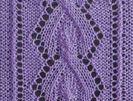 Diamond Lace Knitting Stitches : Lace-Panel-Diamond Lace panel knitting stitches Pinterest Cable, Stitch...