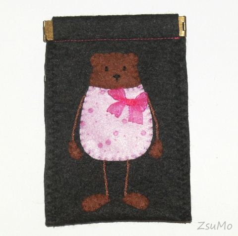 Bear, handmade accessories, case