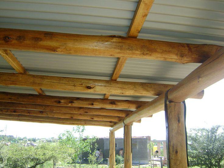 Techo de madera y lamina techos de madera pinterest for Tejados madera blanca