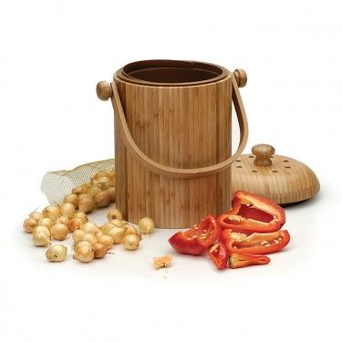 use this caddy to make composting easier by storing your your food scraps discretely in the