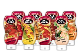 All Gold has a range of convenient squeeze bottles, allowing you to get the perfect amount of sauce and elevate any meal into a taste explosion... mmm.