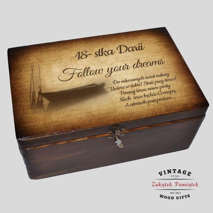 #pudełkowspomnień #memorybox kuferek na urodziny Prezent na 18 urodziny