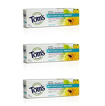 Tom's Of Maine Botanically Bright SLS-free Whitening Paste Peppermint Peppermint 4.7 Ounce (Pack of 3) Review
