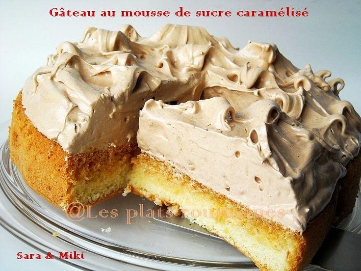 Les plats roumaines: Gâteau au mousse de sucre caramélisé