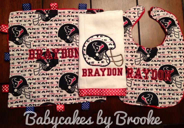17 best amandas baby shower images on pinterest boy baby showers houston texans personalized baby gift set by babycakesbybrooke 2500 negle Choice Image