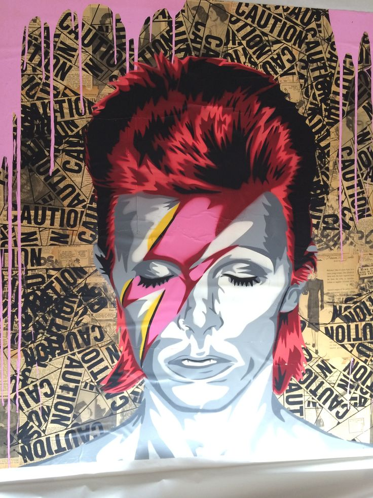 MR. BRAINWASH - DAVID BOWIE - GALERIE FLUEGEL-RONCAK http://www.widewalls.ch/artwork/mr-brainwash/david-bowie/ #mixedmedia