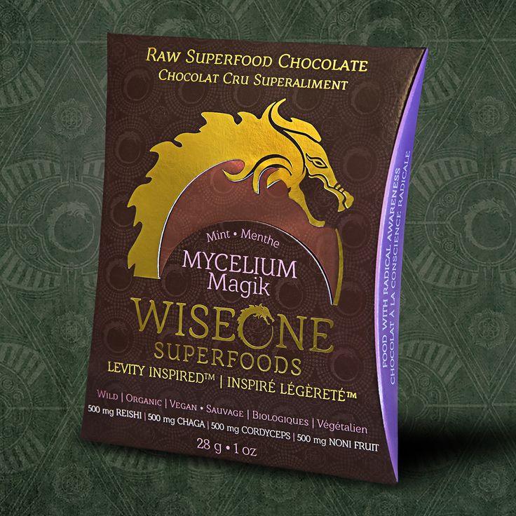 Our Mycelium Magik Chocolate Bar with jungle grown Cacao, Chaga, Reishi, Cordyceps, and Noni Fruit.   Chocolate Designed to Fuel the Celebration!