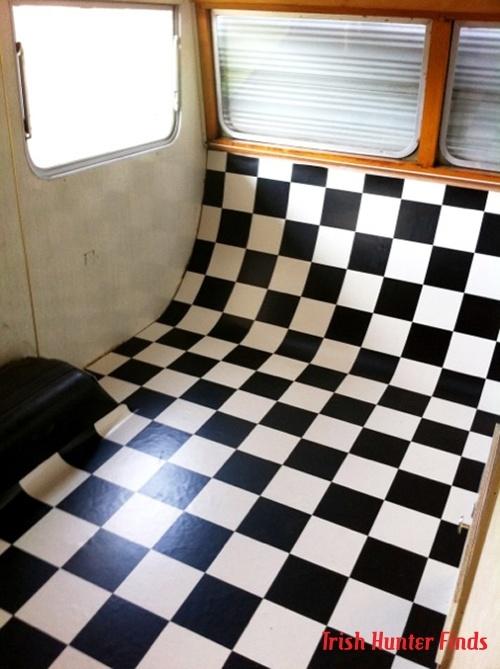77 best images about vintage caravan vinyl lino floors on for Black wood effect lino