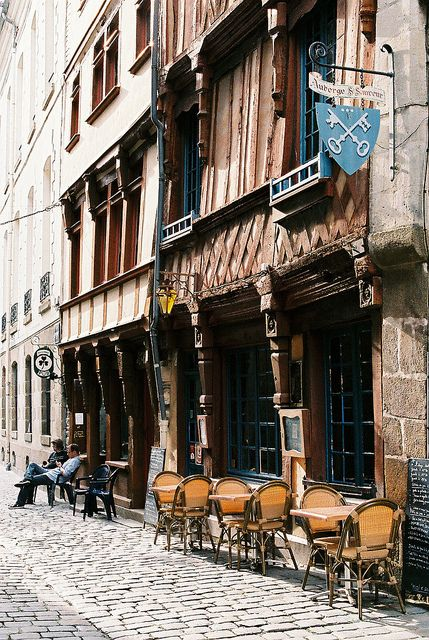 Rennes in Brittany, the old town