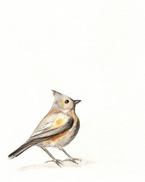 A Song of Ascent / Brown / Yellow /  Gray / Bird by kellybermudez, $20.00