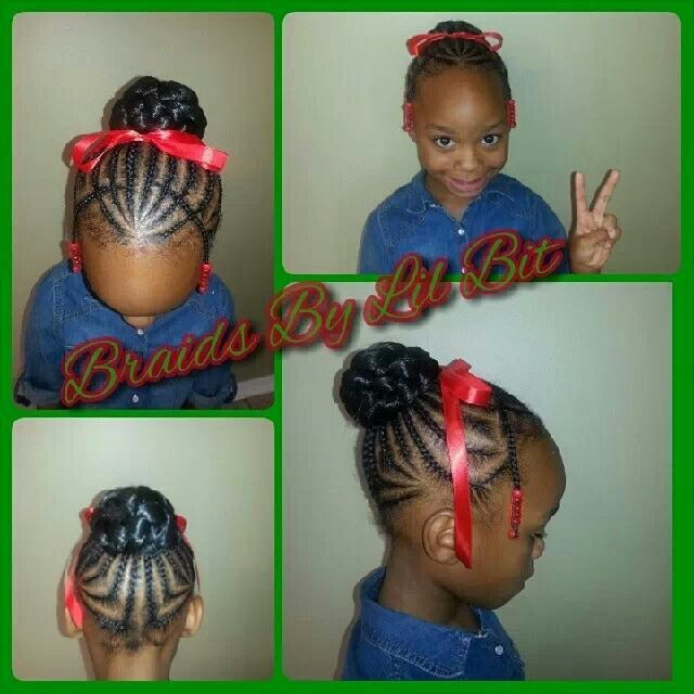 Sensational 1000 Images About Natural Kids Buns On Pinterest Protective Short Hairstyles For Black Women Fulllsitofus