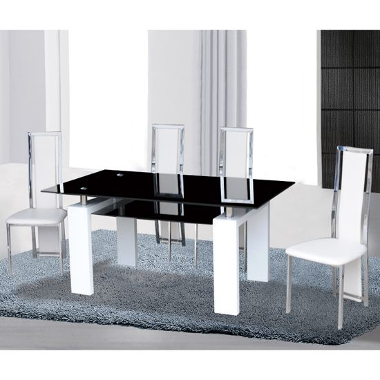 Best + Black glass dining table ideas on Pinterest  Glass top