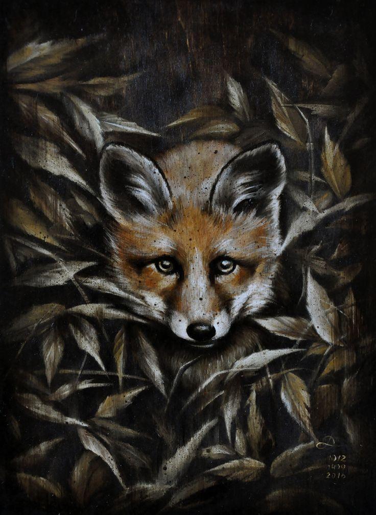 ∙ IN THE DARK ∙  oil on wood panel, 21х39 cm 2016