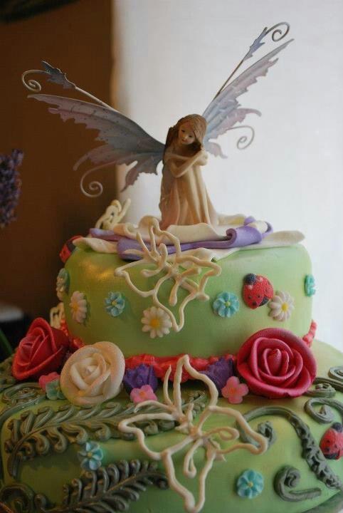 Fairy garden cake. | Party Ideas | Pinterest