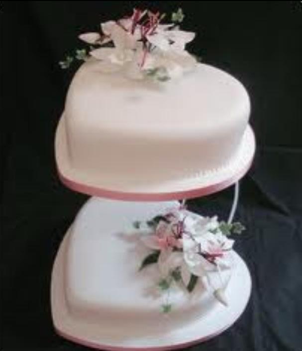 Heart Shaped Wedding Cake Silver Wedding Cakes Pinterest