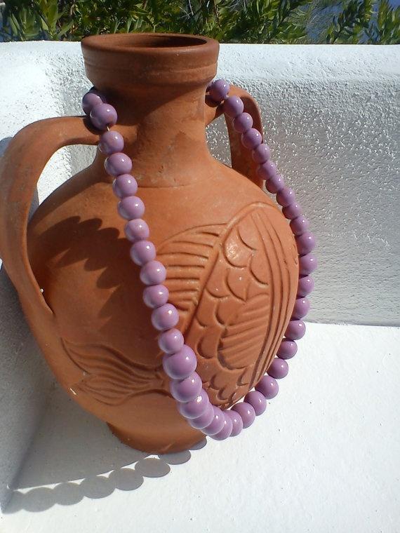 handmade ceramic necklace.