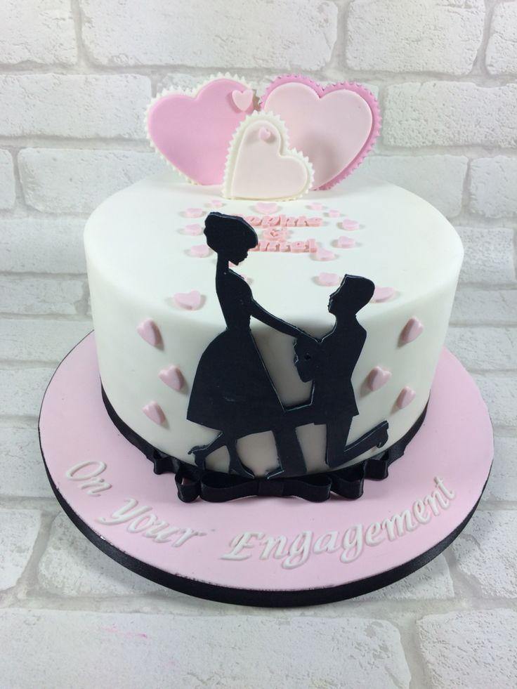 Silhouette Engagement Cake Fondant Love Amp In 2019