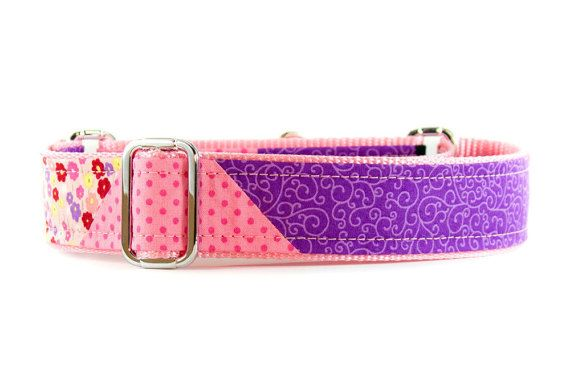 Martingale Dog Collar Martingale Collar Girly Dog by PuppyRiot