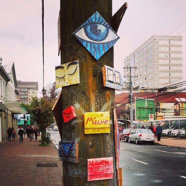 Alguien te mira. #Temuco #Chile #art