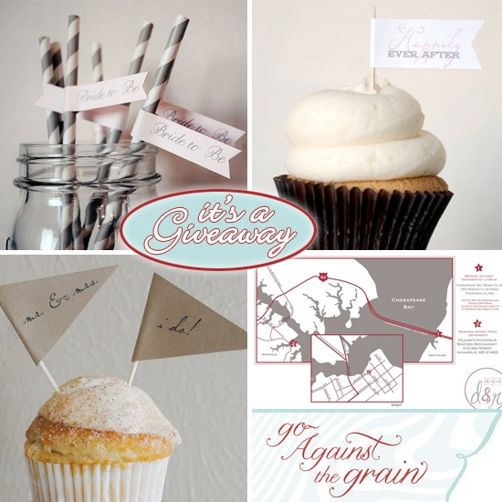 Giveaway : Go Against the Grain Handmade Party Accessories + Maps - Brenda's Wedding Blog - unique daily wedding blogs from Best Wedding Sites for brides & grooms