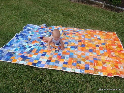 54 best orange & blue quilts images on Pinterest | Baby presents ... : blue and orange quilt - Adamdwight.com