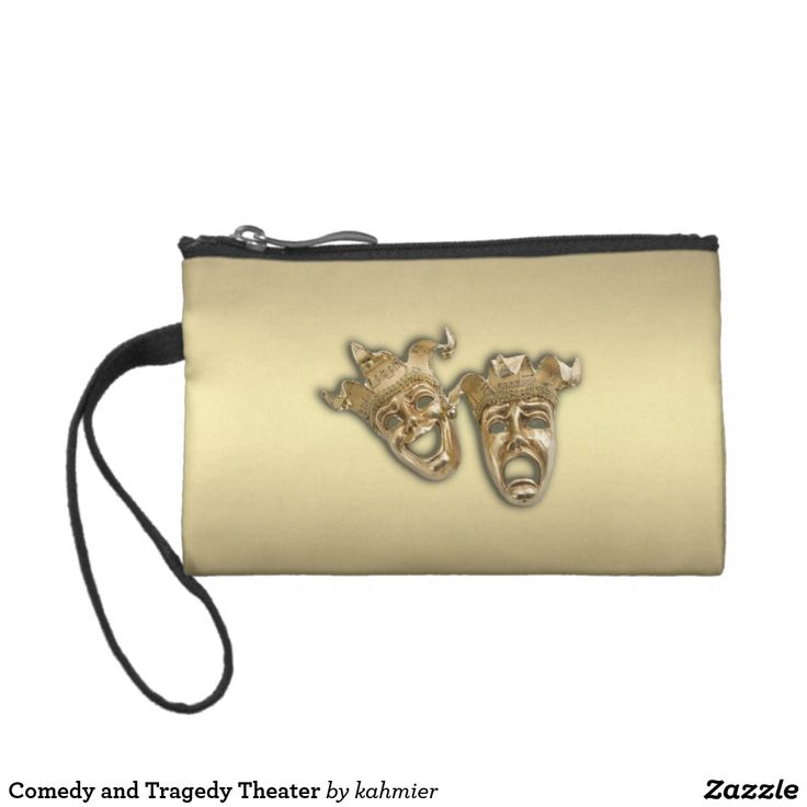 Comedy and Tragedy Theater Coin Wallet