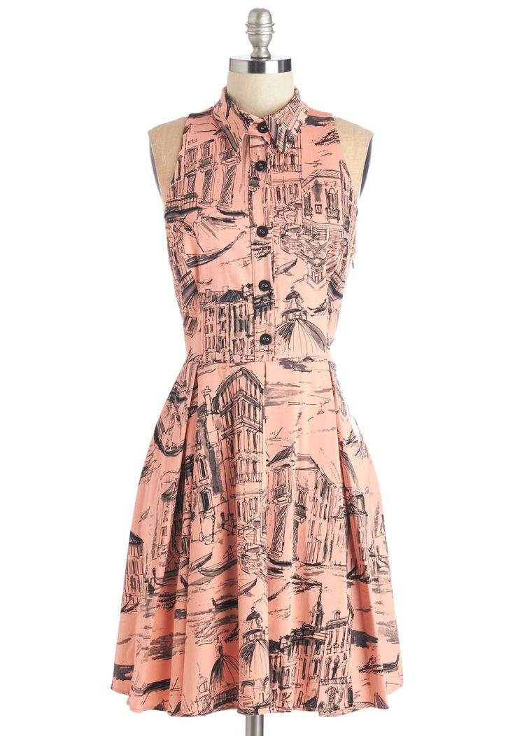 Ciao About That! Dress. This coral dress is sure to inspire feelings of wanderlust! #pink #modcloth