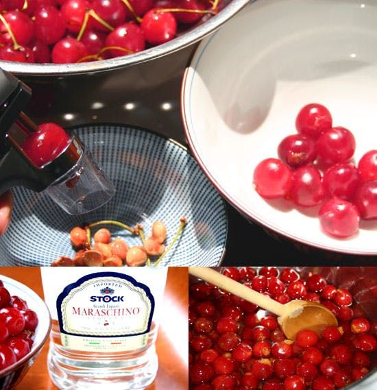 Last summer I spotted Melissa Clark's ultra-simple and delicious-sounding recipe for homemade maraschino cherries in the food section of The New York Times, and was intrigued