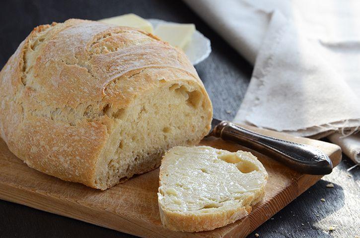 Basic No-Knead Bread   Bread machine   Pinterest