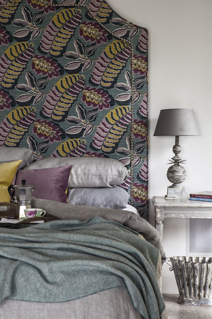 Plenty of options for bedding with this colorful print from Sanderson.
