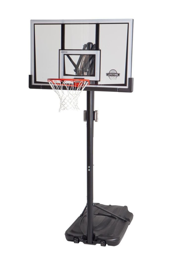 Basketball Hoop And Ball | Lifetime 52 Inch Shatter Proof Backboard Portable  Basketball System
