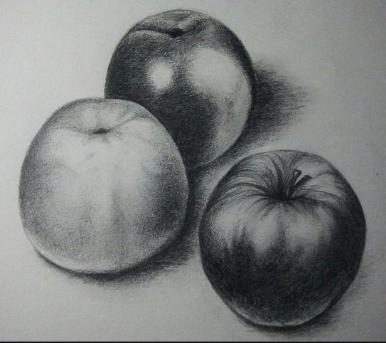 Dibujos sombreados a lapiz faciles de frutas - Imagui