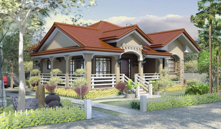 This is a 3bedroom house plan that can fit in a lot with an area