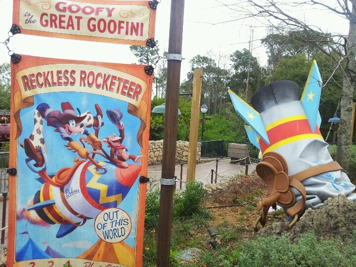 Goofy's Barnstormer Roller Coaster at the Magic Kingdom in the new Fantasyland.