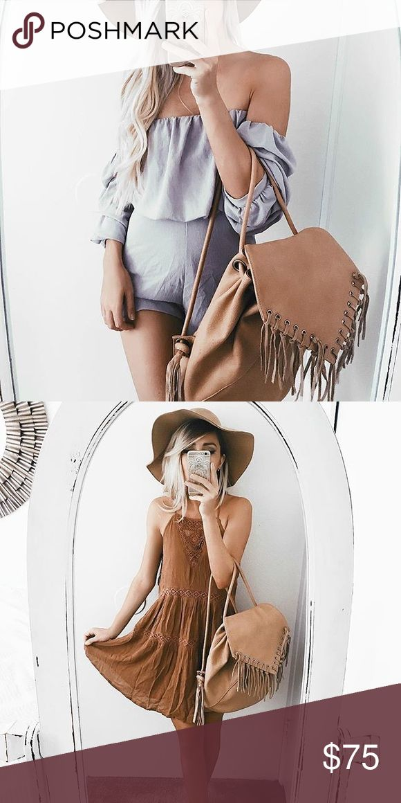 Nude backpack Absolutely ADORABLE. Brand new! Such a great piece to add to your wardrobe! Lulu's Bags Backpacks