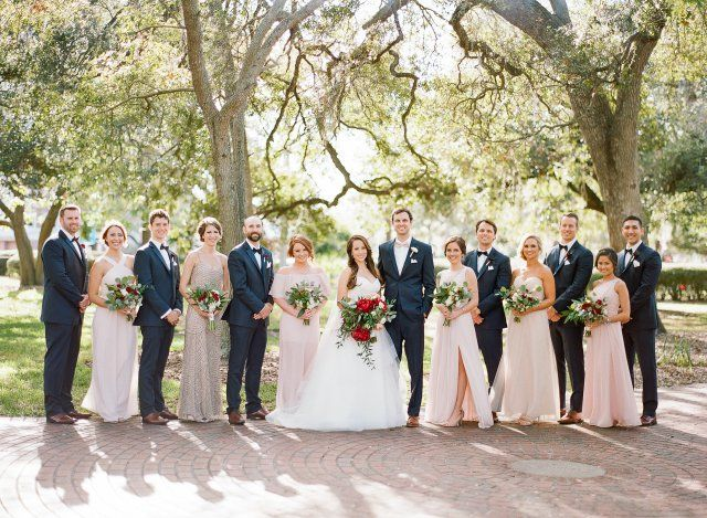 Modern Tampa Museum Wedding, Bourbon and Blush Events, Florida Wedding Planner, Florida Wedding, Tampa Museum of Art, University of Tampa, Curtis Hixon Park, Bridal Party Photos, Bridal Party, Luxury Wedding