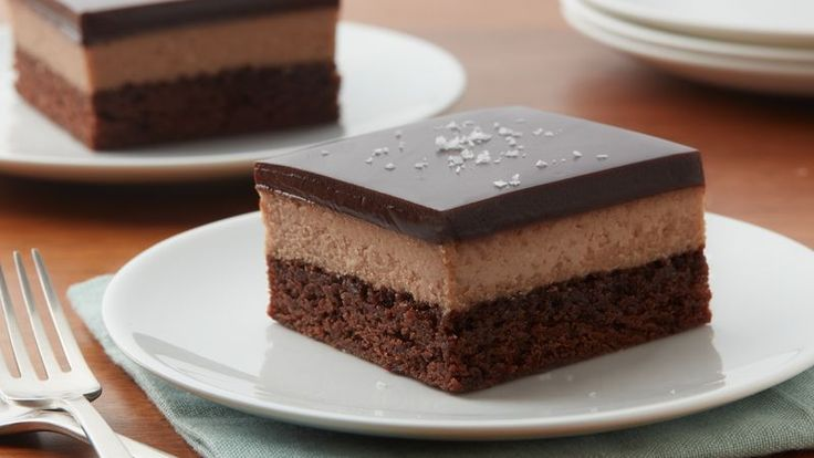 This genius brownie-mix hack is a chocolate lover's dream dessert: creamy chocolate cheesecake with a chocolatey crust and a topping of silky chocolate ganache.