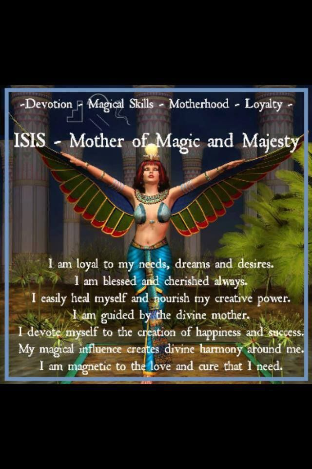 Isis symbolic Mysteries. The real Isis of course didn't look like the picture. But all those who wish to devote themselves to the Isis Mysteries of the occult come in all shapes, hues and sizes. All her devoted followers are welcome to dress as she once perhaps did, as a symbol of her. This is why I love the many pictures of women who emulate Isis, doesn't matter what skin hue they have. :-)