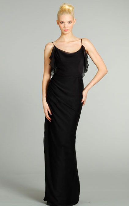 Chiffon Floor-length Backless Cowl Natural Bridesmaid Dresses