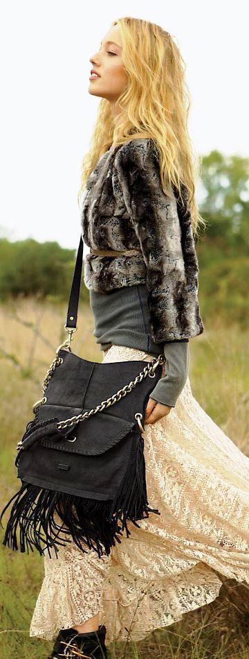 This Falls must-have: fake-fur coat
