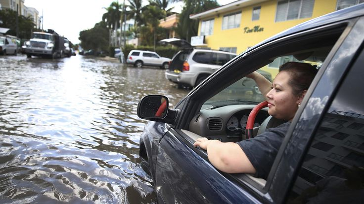 Trump's climate science denial clashes with reality of rising seas in Florida. A few blocks from the Miami Beach hotel where Trump spoke, water flooded over a seawall last year during the highest autumn tides, blocking traffic on one of South Florida's main evacuation routes. The city is now elevating that street and many others as part of a $500-million program to protect itself from the rising ocean. - LA Times