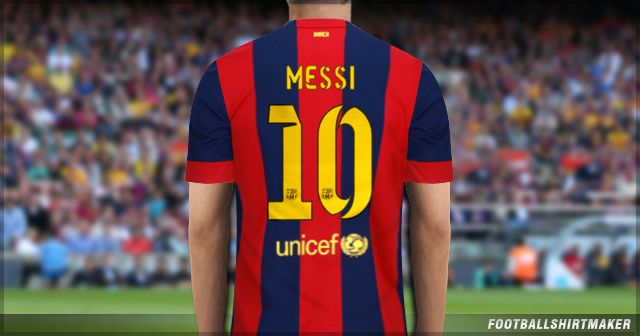 La camiseta local del Barcelona de Messi