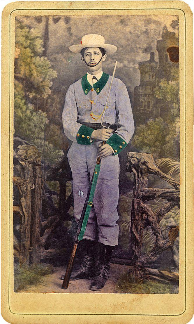 Voluntario de la guerra de Cuba, anónimo (1890-95)
